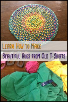Do you have old t-shirts that you don't wear anymore but don't want to give away? Why not turn them into a cute bedside rug for yourself!