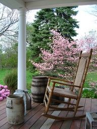 rocking chairs/porches | Porch with rocking chair