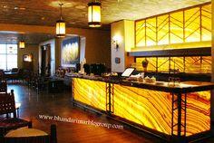 Onyx Bar and Lounge, Four Seasons Resort, Scottsdale, Ariz… Restaurant Counter, Modern Restaurant, Restaurant Design, Onyx Marble, Counter Design, Interior Decorating, Sweet Home, Lounge, Memories Photography