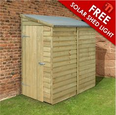 6x3 pressure treated pent wooden wall shed now 14999 httpwww