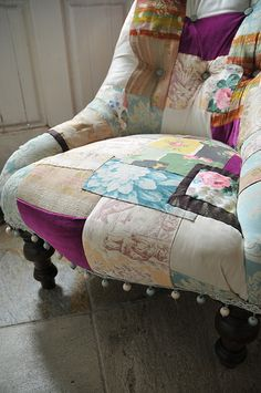 Olivia chair -re-upholstered by myself ( Horseandhair).Victorian iron back nursing chair neat, eh?