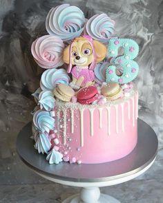 Image may contain: food Girls Paw Patrol Cake, Bolo Do Paw Patrol, Skye Paw Patrol Cake, Paw Patrol Birthday Girl, Paw Patrol Cupcakes, Paw Patrol Torte, Snowflake Wedding Cake, 3rd Birthday Cakes, 4th Birthday