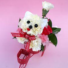Perrito en bicicleta para el día de la madre. Mascotas florales.