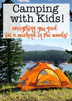Camping with Kids: Everything You Need for a Weekend in the Woods! - Camping with kids is a great and inexpensive way to travel and to explore all that a family vacation - Camping Activities, Camping Meals, Tent Camping, Camping Hacks, Outdoor Camping, Camping Gadgets, Camping Packing, Backpacking Tips, Camping Stuff