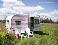 vintage caravans, Grandma's house! and it's PINK!