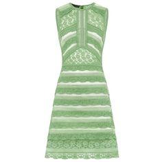 Burberry Prorsum Dress ❤ liked on Polyvore featuring dresses, green dress, burberry dress and burberry