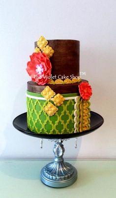 RUSTIC GANACHE with CITRUS Colour Scheme by The Violet Cake Shop on CakesDecor - https://facebook.com/pages/The-Violet-Cake-Shop/95259702360
