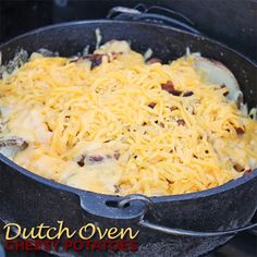 Dutch Oven Cheesy Potatoes | 50 Campfires