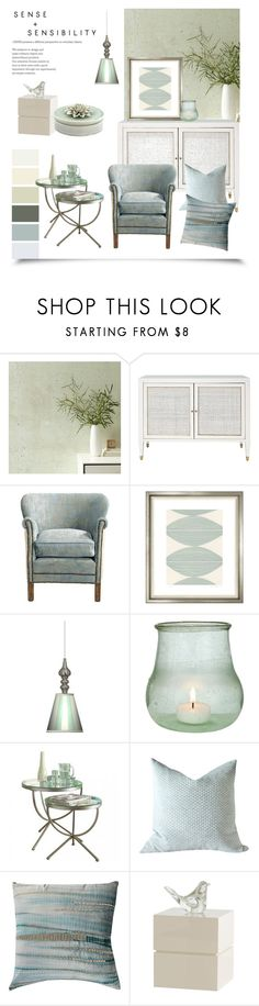 """""""Living Room Idea ~Peaceful~"""" by gangdise ❤ liked on Polyvore featuring interior, interiors, interior design, home, home decor, interior decorating, West Elm, Brownstone, Trowbridge and Giclee Gallery"""