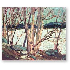 Tom Thomson An Ice Covered Lake - Group of Seven art print Group Of Seven Artists, Group Of Seven Paintings, Emily Carr, Canadian Painters, Canadian Artists, Abstract Landscape, Landscape Paintings, Landscapes, Oil Paintings