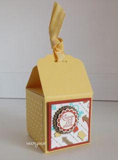 stampin with beemybear: Box aus der Anhänger-Stanze, Anleitung auf dem Blog