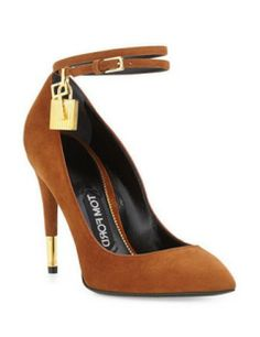TOM FORD Suede Ankle Lock Pump
