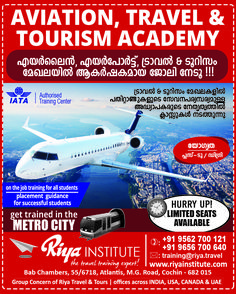 HURRY UP LIMITED SEATS AVAILABLE !!!! Study at Aviation, Travel and Tourism Academy, Riya Institute. Get trained in the metro city and brighten up your future.  For admissions ring us on +91 9562700121 or register at http://www.riyainstitute.com/application-form/