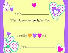 Loving Hearts Kids Fill-In Birthday Thank You Cards, 2015 Amazon Top Rated Invitations & Cards #Toy
