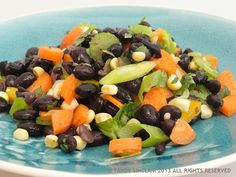 My mom sent me a recipe for a bean salsa - she used red beans to make hers but I chose to make a black bean salsa using up the the beans in my pantry. Red Beans, Black Beans, Fruit Salad, Cobb Salad, Black Bean Salsa, Black Bean Recipes, Salsa Recipe, My Recipes, Pantry