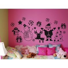 Pachet de Craciun - ★ Stickere Decorative ★ Tabouri Canvas ★ Home and Deco