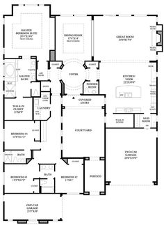 toll brothers homes - brevard floor plan | floorplans | pinterest