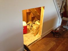 DIY dog house under the stairs tutorial