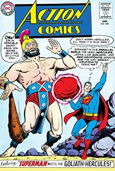 Episode Part III: Superman Comic Book Cover Dated January Action Comics Old Superman, Superman Action Comics, Superman Comic Books, Dc Comic Books, Vintage Comic Books, Dc Comics Art, Comic Book Covers, Comic Book Characters, Vintage Comics