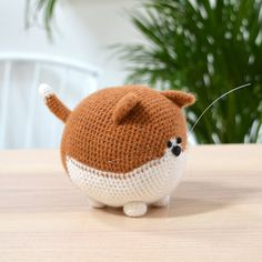 amigurumi Ginger and white crochet cat crochet kit completed cat Gato Crochet, Crochet Owls, Crochet Amigurumi, Amigurumi Patterns, Crochet Animals, Crochet Patterns, Crochet Brooch, Free Crochet, Dog Crochet