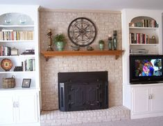 Fireplace Decorating Fireplace Mantel Shelves An Easy Decor, Decorating Coffee Tables, Decoracion De İnteriores, Decorating Bookshelves, Decorative Pillows, Decorating With Plants, Decoracion De Salas Modernas, Decorated Jars. #decor #coffeetables #decoratingbookshelves #decoratedjars