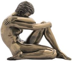 Sculpted Nude Female with Arm Around Shoulder Sculpture - 277 Pose Reference Photo, Body Reference, Body Photography, Figure Photography, Drawing People Faces, Male Figure Drawing, Sitting Poses, Male Poses, Drawing Poses
