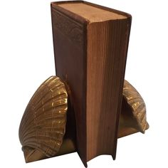 Brass Sea Shell Bookends - Pair - Heavy