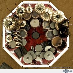Neil-Peart's Drum Kit....whoa!
