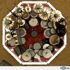 Neil-Peart's Drum Kit....whoa!