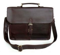 14 Crazy Horse Leather Business Messenger Bag by LUCKYSHOP1900, $99.88
