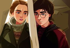 Harry and Hermione by The Dariart Palette