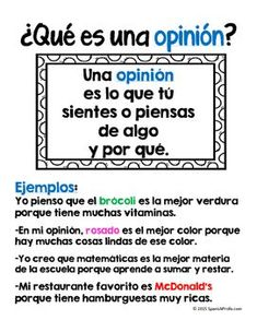 anchor chart expresar opiniones - Google Search