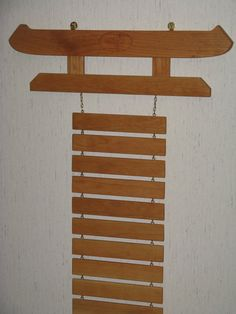 Personalized Solid Cherry Martial Arts Rank Belt Display Rack with Kicker, for 12 belts or more, Karate, Tae Kwon Do