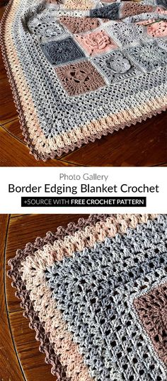 Border Edging Blanket Free Crochet Pattern Border Edging Blanket Crochet Get more photo about subject related with by looking at photos gallery at the. Crochet Border Patterns, Crochet Blanket Border, Crochet Boarders, Crochet Stitches, Crochet Edgings, Crochet Edges For Blankets, Crochet Afghans, Diy Crochet, Crochet Crafts