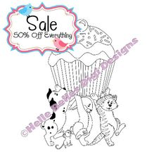 Instant Download Dog Cat Rabbit Mouse and by HelleBellesDesigns, £0.50