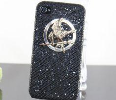 Golden Hunger Games Logo PU leather Shining Black by BeautyandLuck, $9.99