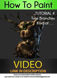 How To Paint TREE BRANCHES_ Jesus Conde Tutorial 4 by JesusAConde
