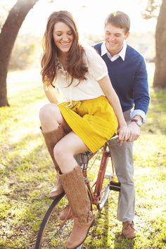 I love when couples take bike pictures.