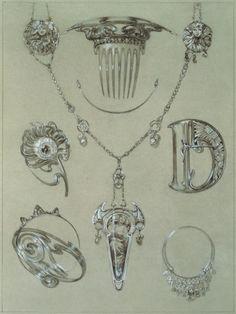 Designer saves the Art Nouveau: Alphonse Mucha Art Nouveau driver Motifs Art Nouveau, Art Nouveau Mucha, Alphonse Mucha Art, Bijoux Art Nouveau, Art Nouveau Design, Art Nouveau Jewelry, Jewelry Art, Jewelry Design, Metal Jewellery