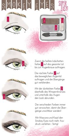 Anleitung für SMOKEY EYES make up tutorial