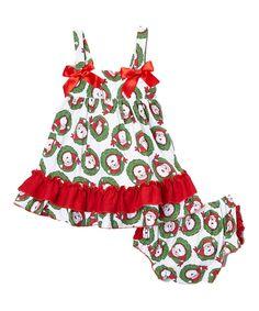 10dc03a24420b Wholesale - Red & Green Christmas Santa Swing Top & Diaper Cover Set - Royal  Gem Clothing
