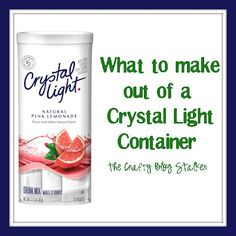 What to Make Out of a Crystal Light Container - I planned on using my Crystal Light containers for marker storage at school.  Excited to see other ways to use the containers.  I already use an empty on in my husband's lunch box for his silverware.
