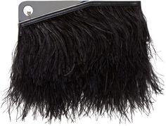 McQ Alexander McQueen Black Feather Trigger Clutch