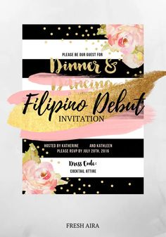 Read how we worded the debut invitation and kept to invitation etiquette Debut Invitation, Invitations, Filipino Debut, Cocktail Attire, Something Beautiful, Etiquette, Rsvp, Words, Blog