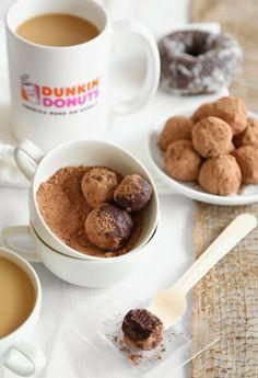 Trufas de dónut y chocolate.