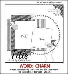 Make one special photo charms for you, 100% compatible with your Pandora bracelets.  Scrap Our Stash Challenge: March Sketch Challenge: WORD ~ CHARM