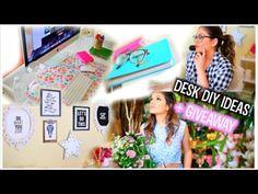 ▶ Desk Makeover: DIY Organization + My Essentials! - YouTube
