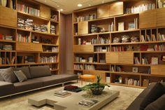 Modern Home Interior Design, Home Office Design, House Design, Living Room Bookcase, Sweet Home, Study Rooms, Home Libraries, Shelf Design, Home Renovation
