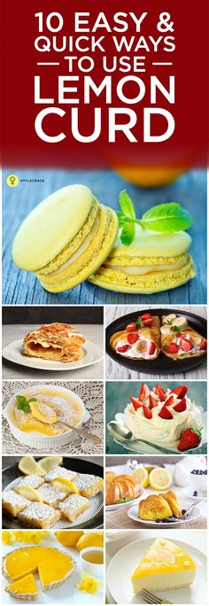 10 Easy And Quick Ways To Use Lemon Curd