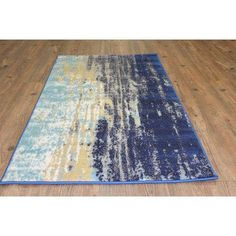 Found it at Wayfair - Fusion Yellow/Blue Area Rug